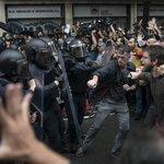 Potyčky v ulicích katalánských měst