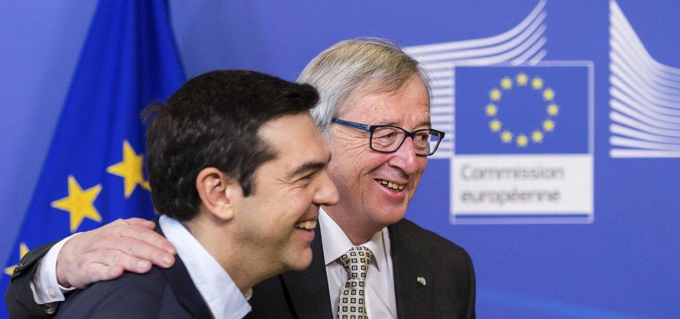 Řecký premiér Alexis Tsipras a předseda Evropské komise Jean-Claude Juncker