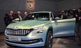 Studie Škoda VisionS, kterou automobilka představila 1. března na 86. mezinárodním autosalonu v Ženevě