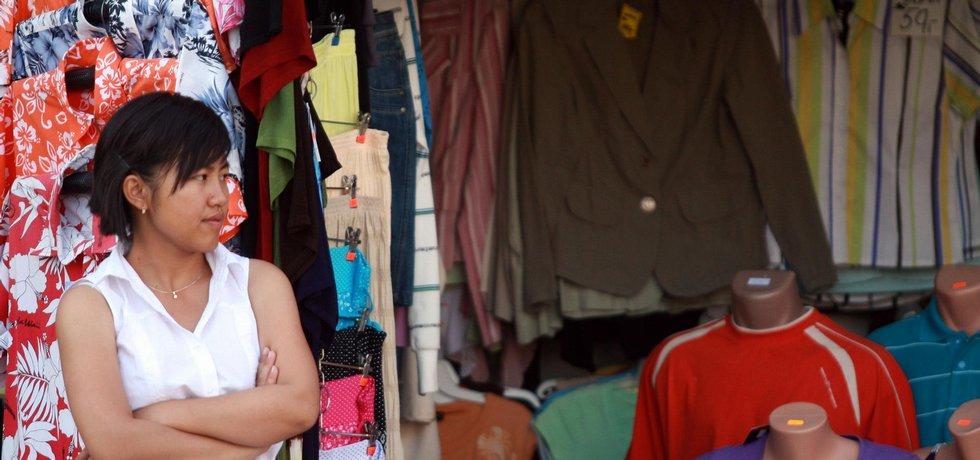 Vietnamská tržnice, ilustrační foto