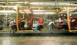 Výroba aut v kolínské automobilce, ilustrační foto