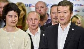 Tisková konference SPD po vstupu do sněmovny