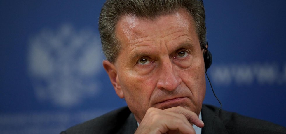 Komisař pro rozpočet EU Günther Oettinger
