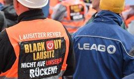 Protest proti uzavírání uhelných elektráren v Německu, ilustrační foto