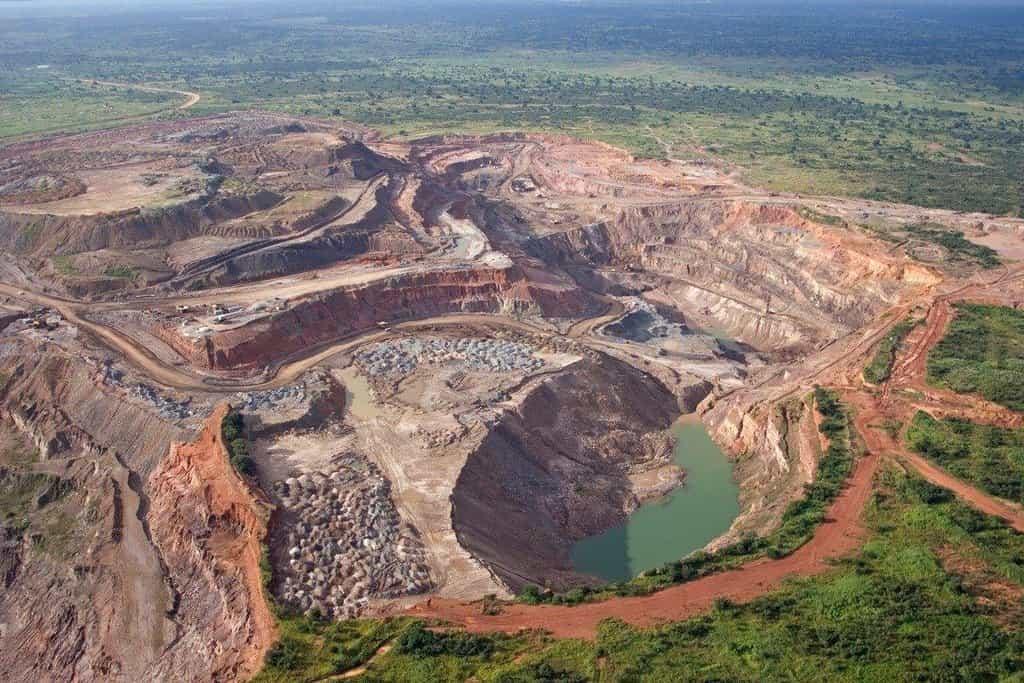 Kobaltový důl v Zambii