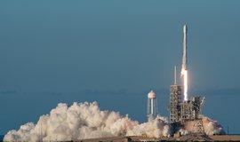 Start rakety Falcon 9 společnosto SpaceX, ilustrační foto
