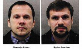 Alexandr Miškin a plukovník Anatolij Čepiga pobývali v Británii s doklady na jména Alexandr Petrov a Ruslan Boširov