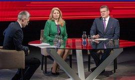 Televizní debata Zuzany Čaputové a Maroše Ševčoviče