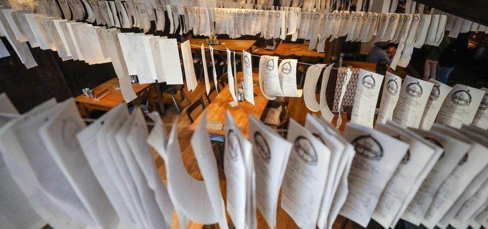 Protest proti tištění účtenek restauratéra z Karlsruhe, ilustrační foto