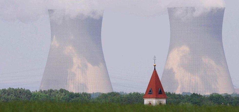 Bavorská jaderná elektrárna Gundremmingen.