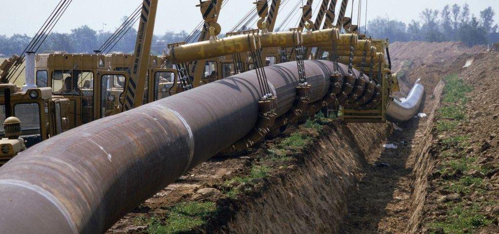Pokládání plynovodu