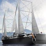 Francouzská plachetnice má mít kapacitu 500 osobních aut nebo 280 kontejnerů.