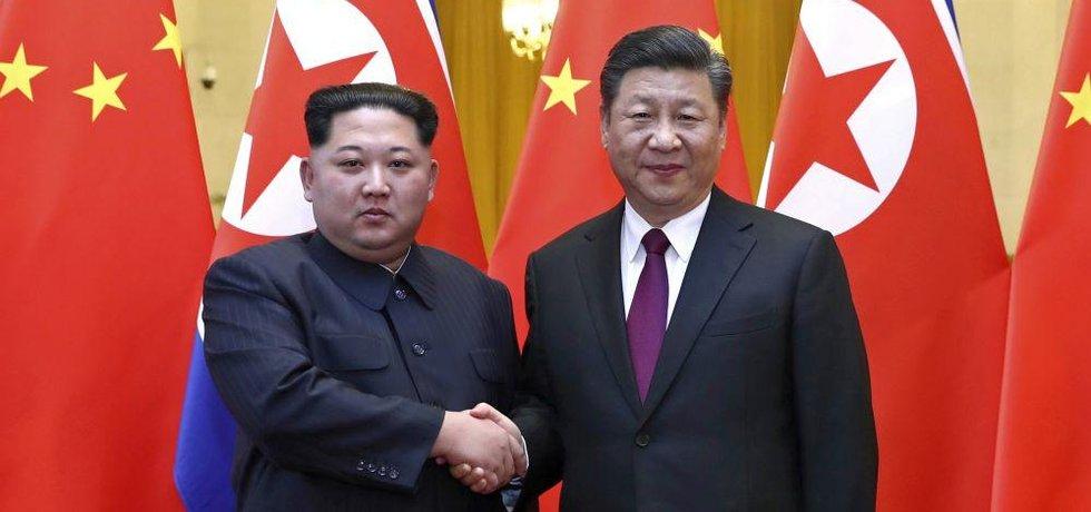 Vůdce KLDR Kim Čong-un jednal s prezidentem Si Ťin-pchingem