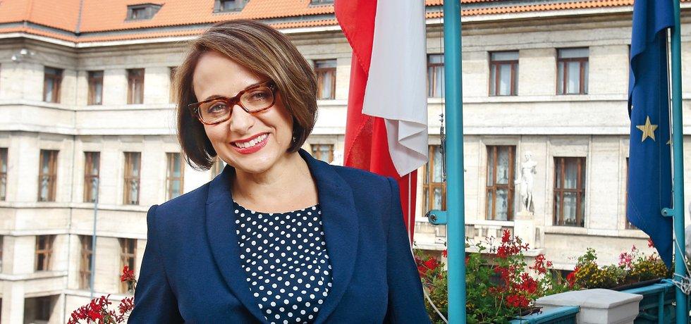 Primátorka hlavního města Prahy Adriana Krnáčová