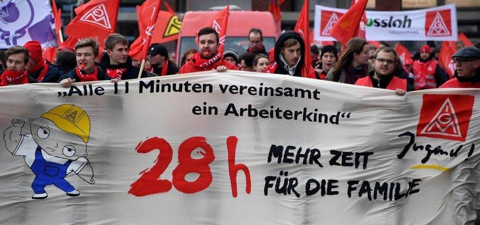 28 hodin týdně v práci. Požadavek německých odborů IG Metall.