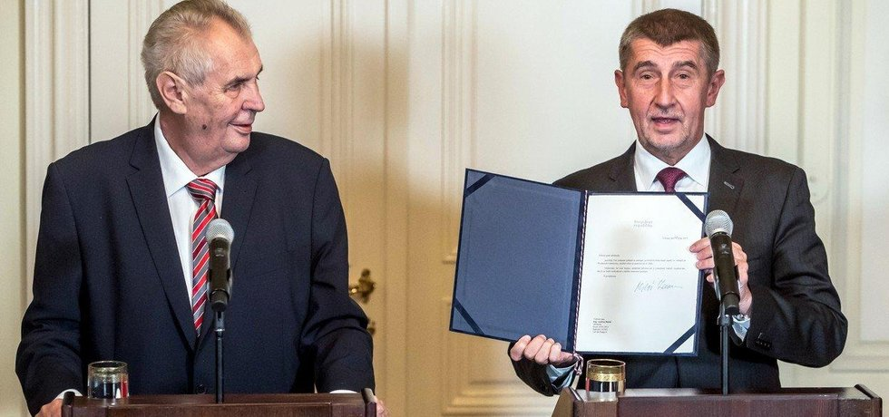 Prezident Miloš Zeman a předseda hnutí ANO Andrej Babiš