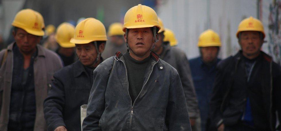 Čínští dělníci, ilustrační foto