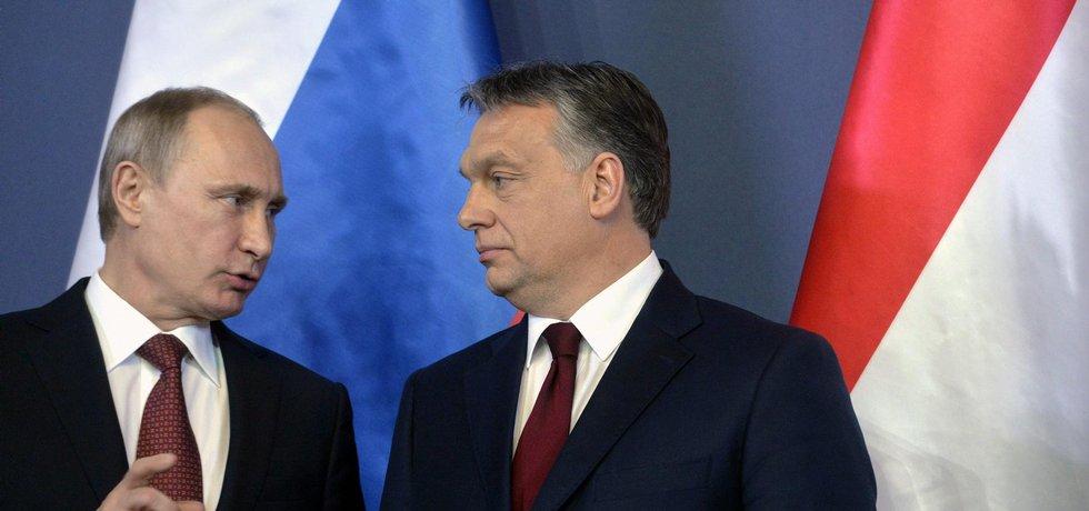 Vladimir Putin a Viktor Orbán