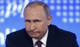 Ruský prezident Vladimir Putin během výroční konference v Moskvě