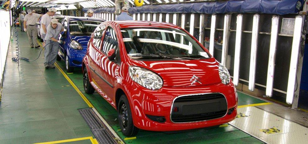 Citroen C1 na výrobní lince kolínské automobilky