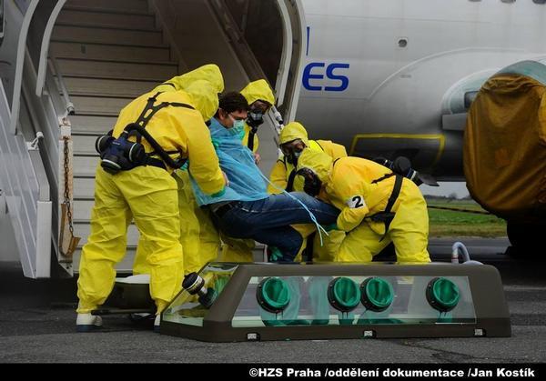 ebola, letiště