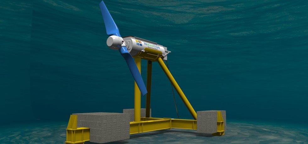 Podmořská přílivová turbína Nova Innovation (Zdroj: Nova Innovation)