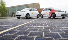 Silnice v Normandii pokrytá solárními panely Wattway
