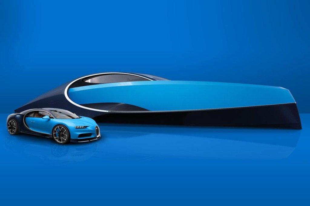 Design lodi je inspirován vozem Bugatti Chiron, který patří mezi nejrychlejší auta světa