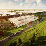 Vizualizace továrny na výrobu vodíku z obnovitelných zdrojů v australském Melbourne.