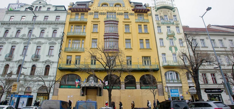 Secesní hotel Evropa na pražském Václavském náměstí