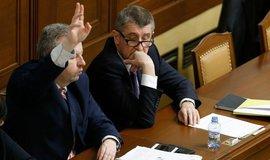 Ministr životního prostředí Richard Brabec a premiér Andrej Babiš