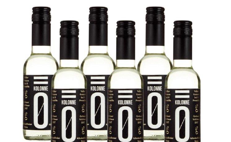 Nealkoholické víno firmy Kolonne Null, ilustrační foto