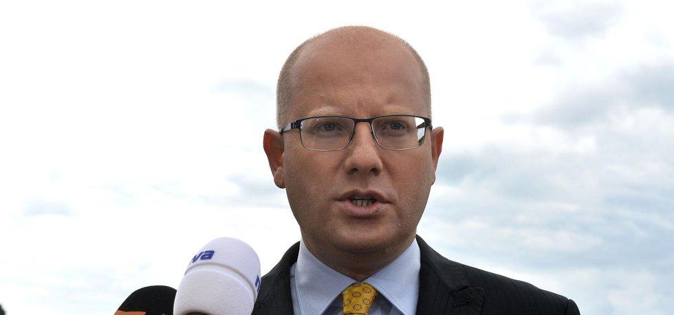 Současný předseda ČSSD a premiér Bohuslav Sobotka