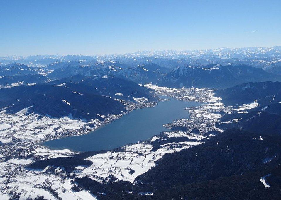 Tegernsee. Letecký snímek.