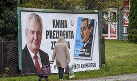 Billboard s propagací knihy rozhovorů s prezidentem Milošem Zemanem