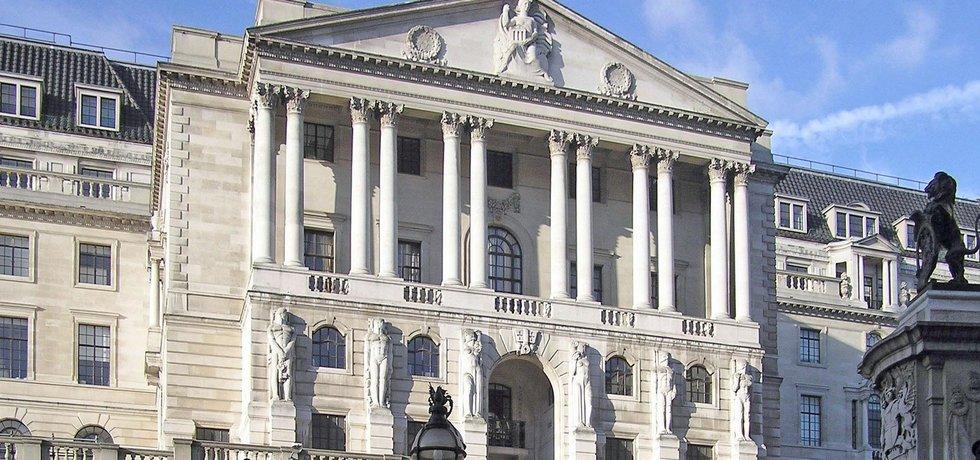 Centrála Bank of England v Londýně