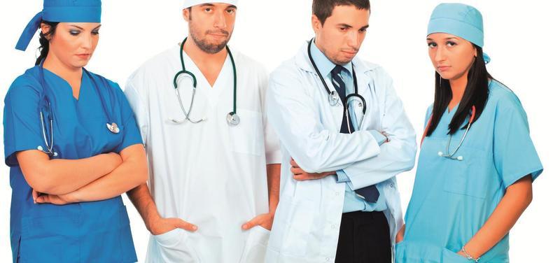 *lékaři, únava, deprese, protesty