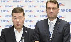 Předseda hnutí Tomio Okamura a místopředseda Radim Fiala