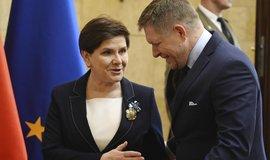 Polská premiérka Beata Szydlová a její slovenský protějšek Robert Fico