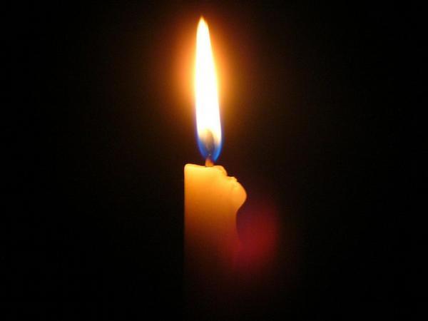 kondolence, úmrtí, svíčka