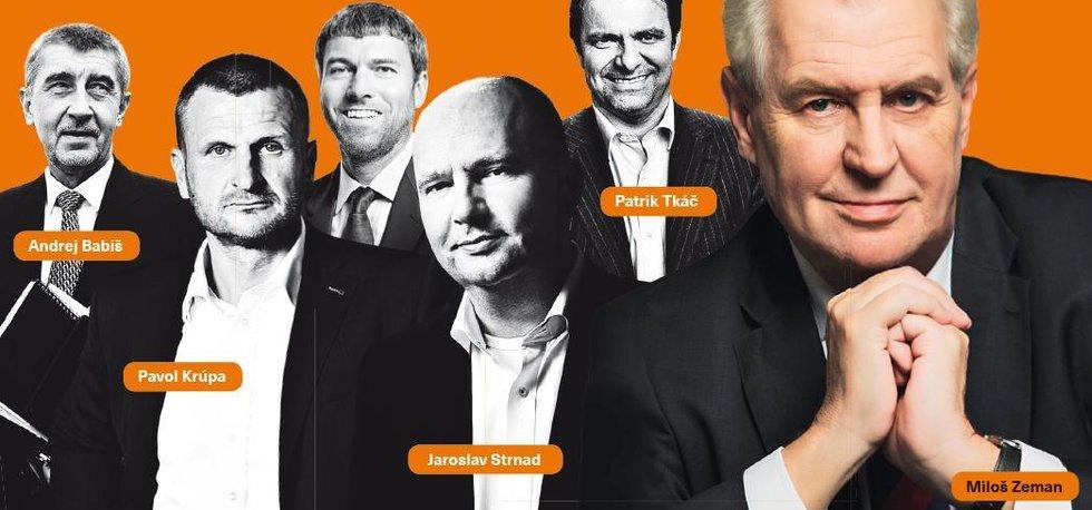 Miliardáři v zádech Miloše Zemana