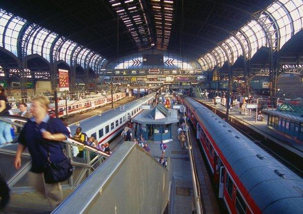 Nádraží v Hamburku, cílová stanice na severu Německa