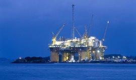 Ropná plošina v Norsku, ilustrační foto