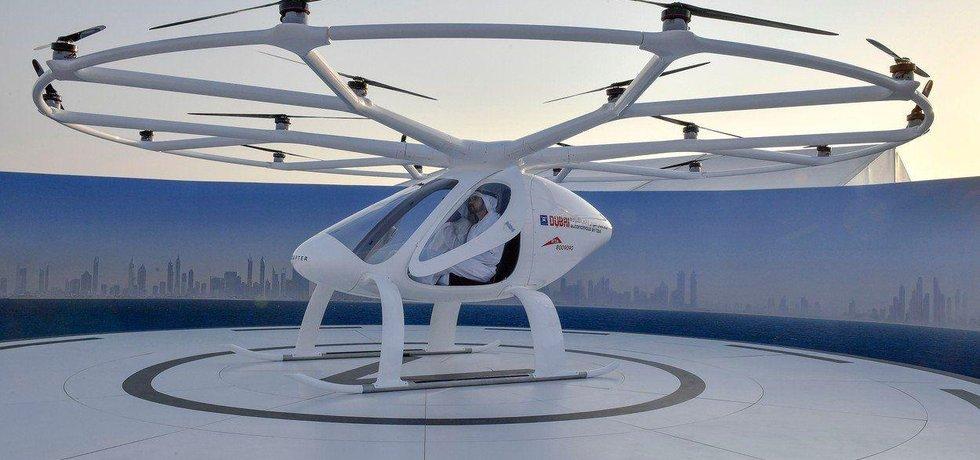 Volokoptéra během testu v Dubaji.