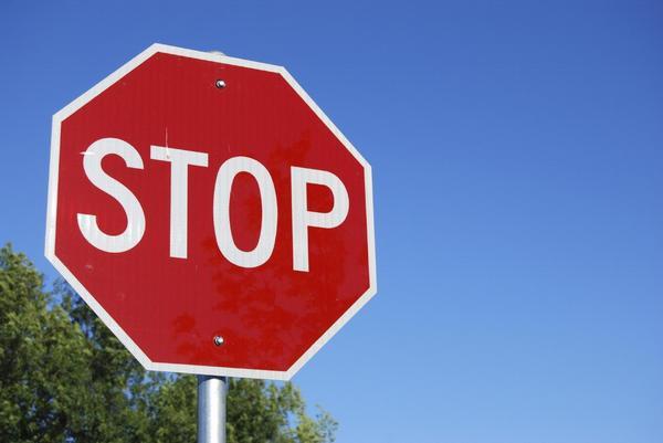 značka, stop