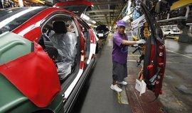 Výroba vozů v automobilce General Motors, ilustrační foto