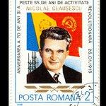 Známka slavící 70. narozeniny Nicolaea Ceaușesca z roku 1988.