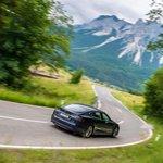 Tesla S se prohání v rakouském Tyrolsku.