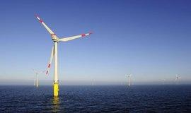Německá větrná farma Alpha Ventus v Severním moři