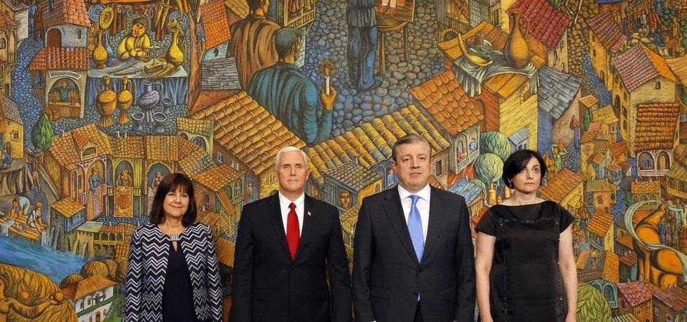 Americký viceprezident Mike Pence v Tbilisi